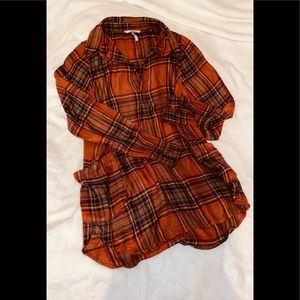 BKE Boyfriend Flannel Shirt sz XS